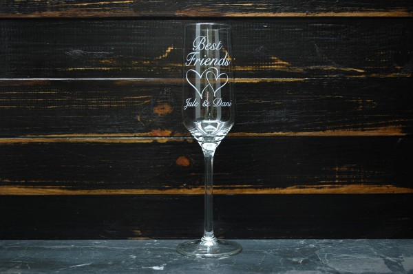 Sektkelch Sektglas gross mit Gravur