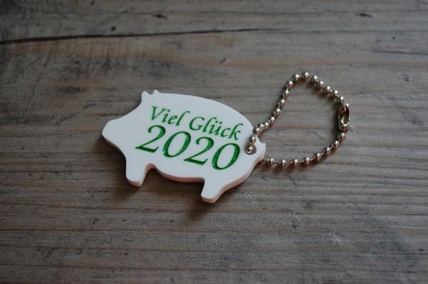 Glücks Schwein 2020 mit Gravur