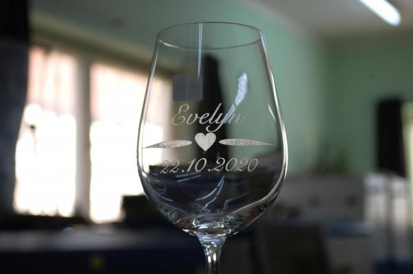 Gravur auf Gläser 301 bis 500 ml Kundenmaterial
