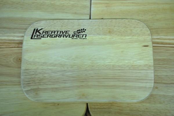Holz Frühstücksbrett mit Gravur - Staffelpreise