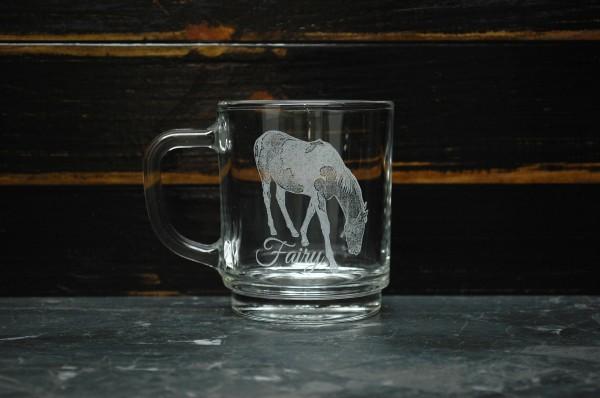 Glühweinglas mit Gravur
