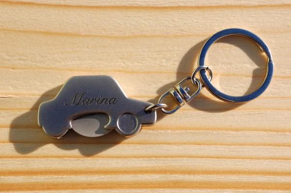 Auto Schlüsselanhänger mit Chip graviert
