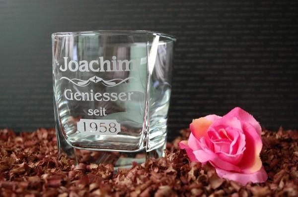 Whisky Glas graviert