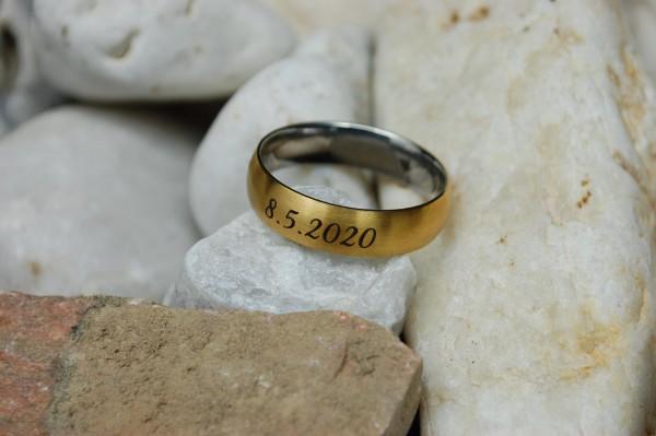 Gravur aussen auf Ring